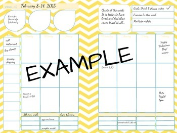 """Printable Planner Organizer Pages 8.5"""""""