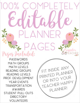 Printable Planner Pages (Fits inside Binder or Happy Planner)