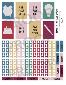 Printable Planner Stickers - Dreamy