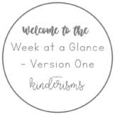 Printable Planner - Week at a Glance Layout