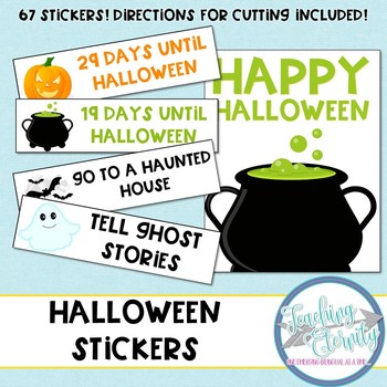 Printable Planner stickers for Halloween