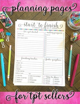 Printable Planning Pages for TPT Sellers