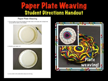 Printable Plate Weaving Student Handout