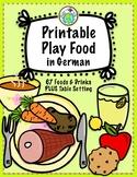 Printable Play Food in German Set of 67 Foods, Drinks & Ta
