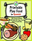 Printable Play Food in Spanish for Imaginative Play & Vocabulary Practice