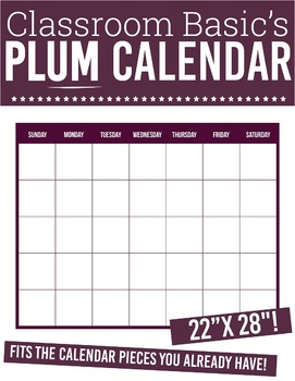 "Printable Plum Calendar (22""X28""!)"