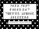 Blank Printable Polka Dot Themed 2014-2015 School Calendar
