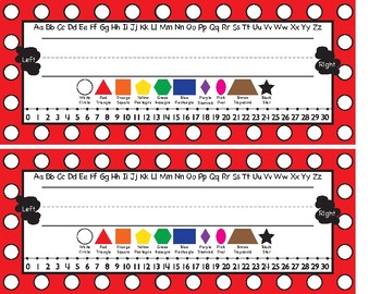 Printable Polkadot Name Plates