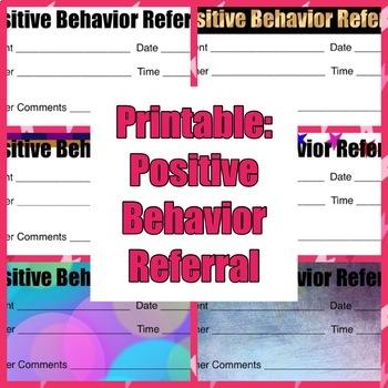Printable: Positive Behavior Referral