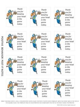 Printable Positive Behavior Sticky Notes