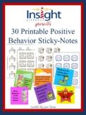 Printable Positive Behavior Sticky Notes Template