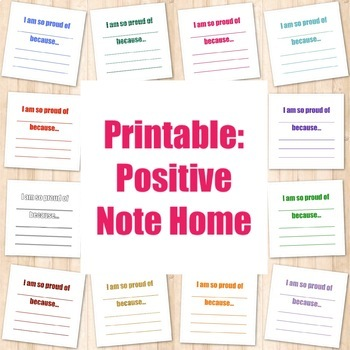 Printable: Positive Note Home