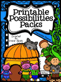 Printable Possibilities Packs ~ Character Foldables, Graphic Organizers, Paper