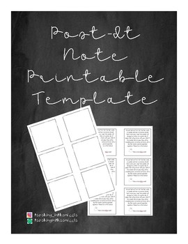 Printable Post-It Note Template