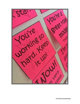 Printable Post-It Note Words of Encouragement for Students