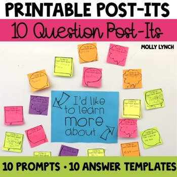Printable Post-It Notes - Classroom Questions