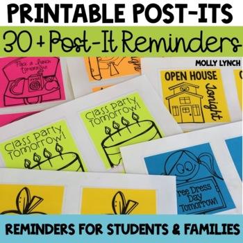Printable Post-It Notes Reminders