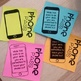 Cell Phone Reward Tickets - Printable Post It / Sticky Note  - Editable!