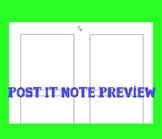 Printable Post It Template (3x3 inches)