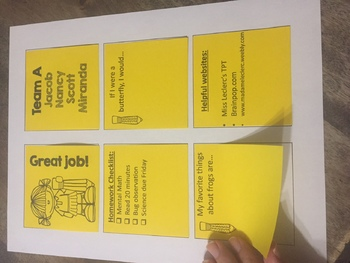 Printable Post It Template! Back to school