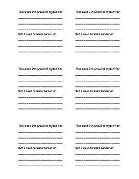 Printable Post-Its: Goal Setting & Reflection (Growth Mindset)
