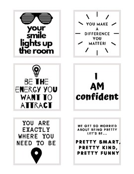 Printable Post-it messages
