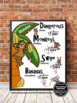 Long Division Strategy Anchor Chart Poster with Monkeys fo