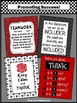 Red & Black Classroom Decor Set of 4 Posters