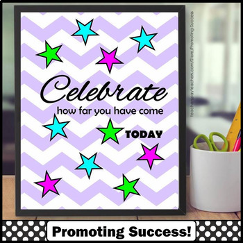 FREE Poster, Inspirational Quote, Star Theme Classroom Decor Poster