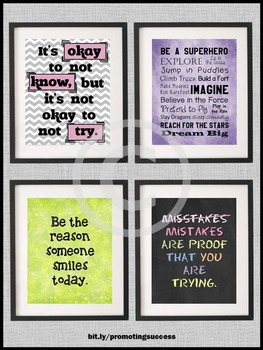 Inspirational Quotes, Printable Classroom Posters, Back to School Decor