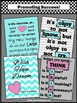 Aqua and Pink Classroom Decor Posters, Motivational Quotes Okay to Not Know