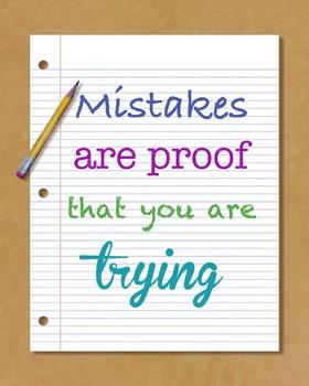 Printable Poster- Mistakes