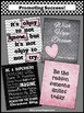 Inspirational Quote Posters Pink & Gray Motivational Class
