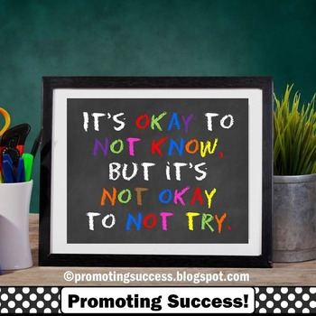 Back to School Classroom Decor, Motivational Quote, Special Education Poster