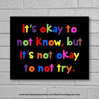 ESL Special Education Autism Teacher Classroom Motivational Quote Poster