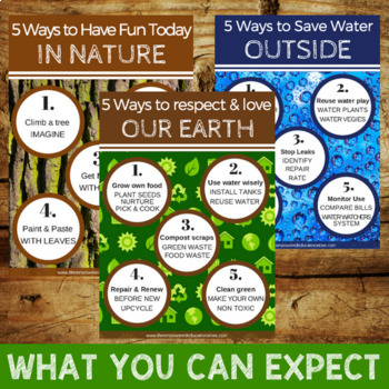 Printable Poster Pack - Our World Theme for Childcare, PreK, Homeschool