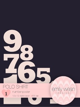 Polo Shirt - FREE 8 1/2 x 11 Poster - Numbers