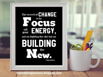 Motivational Poster Inspirational Quote About Change Socrates Classroom Decor