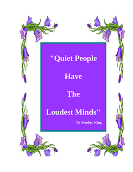 Printable Poster Stephen King quote for the class room