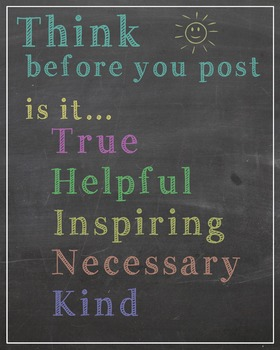 Printable Poster- Think