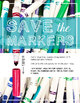 Printable Poster for Visual Art or General Classroom Decor, Save the Markers