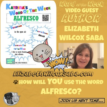 Printable Poster for Word of the Week: ALFRESCO Literacy & Vocabulary Builder