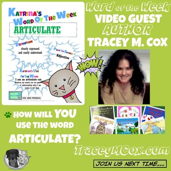 Printable Poster for Word of the Week: ARTICULATE Literacy & Vocabulary Builder
