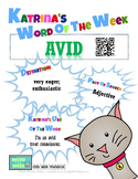Printable Poster for Word of the Week: AVID Literacy & Voc