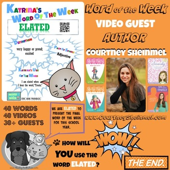 Printable Poster for Word of the Week: ELATED Literacy & Vocabulary Builder