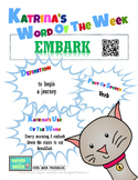 Printable Poster for Word of the Week: EMBARK Literacy & V