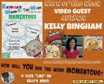 Printable Poster for Word of the Week: MOMENTOUS Literacy & Vocabulary Builder