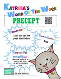 Printable Poster for Word of the Week: PRECEPT Literacy &