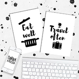 Printable Posters Eat Well Travel Often