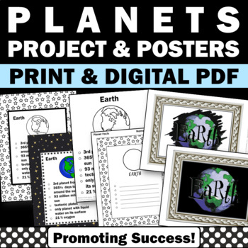 Planets of the Solar Systems Posters for Earth Science Centers